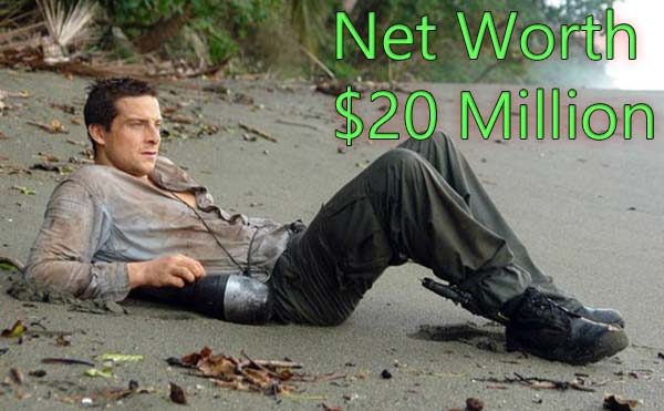 Bear Grylls Net Worth source of income his sallary per episode
