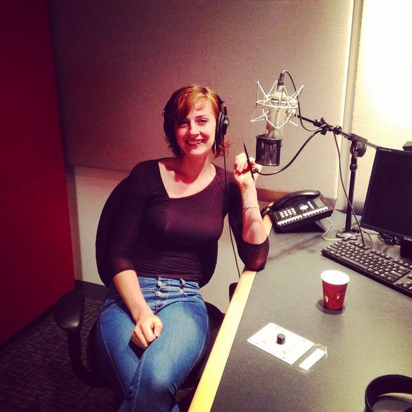 Image of Emily Riedel in Recording studio