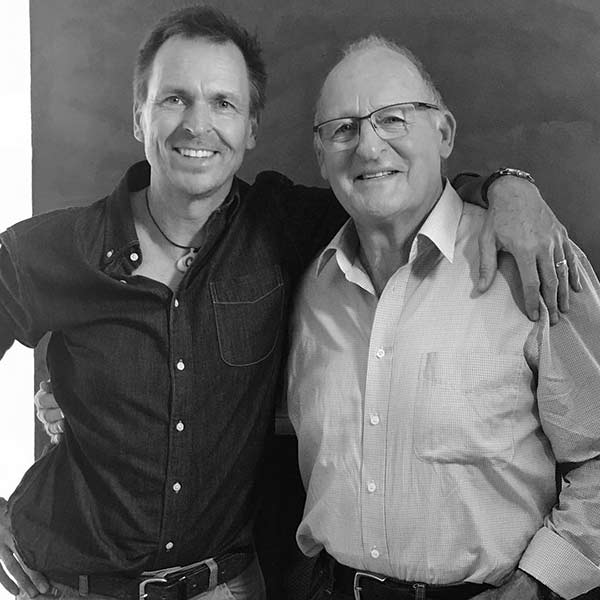 Image of TV Personality, Phil Keoghan with his dad John Keoghan