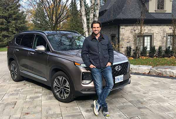 Image of Television Presenter, Scott McGillivray with his car