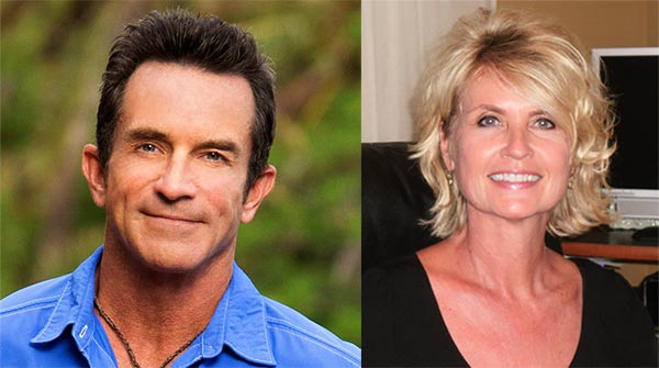 Image of Shelly Wright with her husband Jeff Probst's