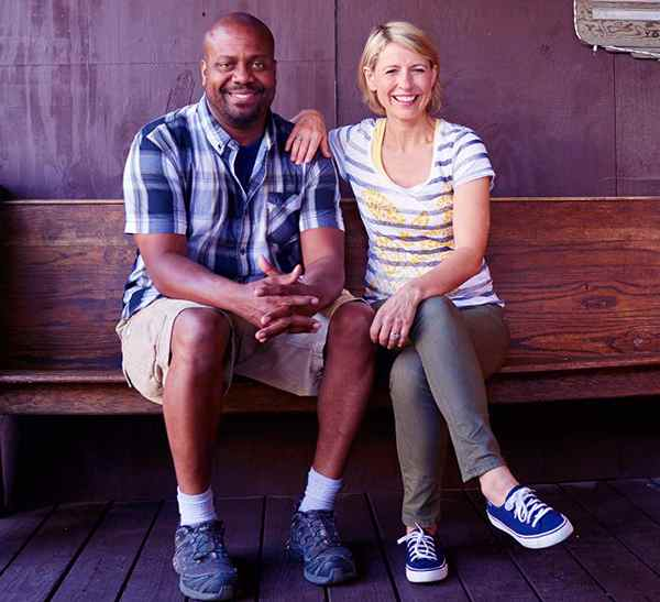 Image of Chris Grundy wit his wife Samantha Brown