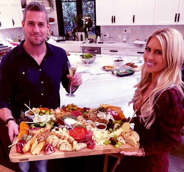 Image of Christina El Moussa with her husband Ant Anstead