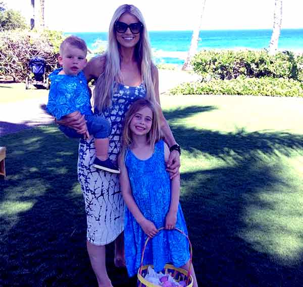 Image of Christina El Moussa with her kids Taylor (son) and daughter Brayden James.