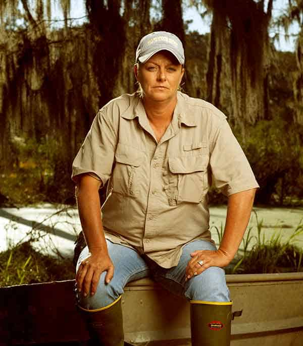 Image of Liz Cavalier from Swamp People show