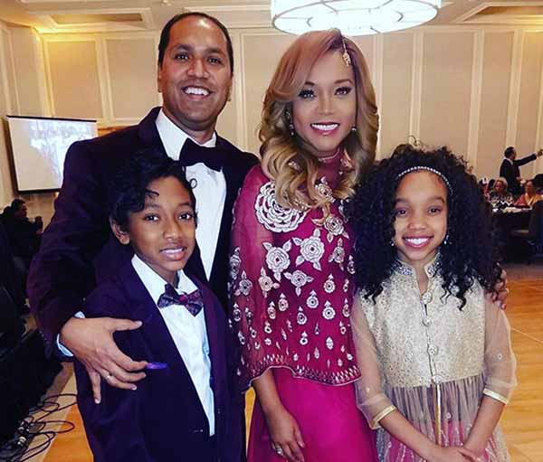 Image of Mariah Huq with her husband Dr. Hydin Huq and with theri kids Ethan-Tyler Huq (son) and Lauren-Taylor Huq (daughter)