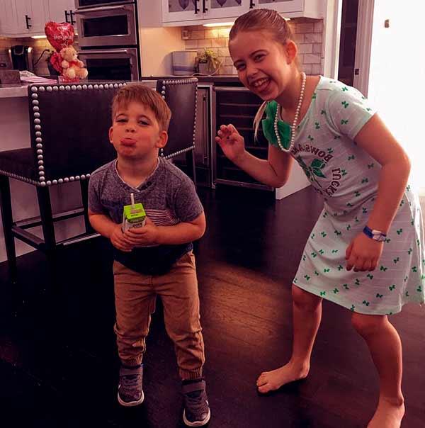 Image of Tarek El Moussa kids Brayden James.(son) and Taylor (daughter)