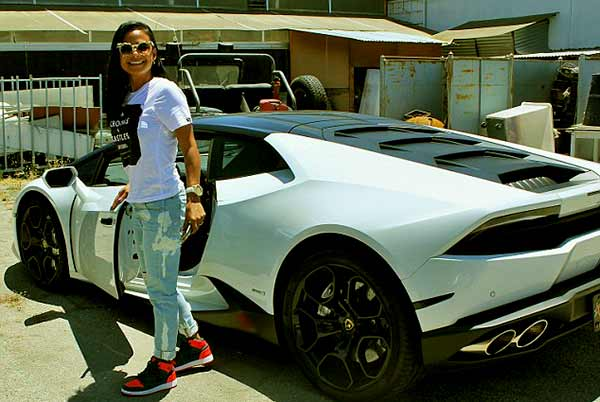Image of Christina Milian with her car