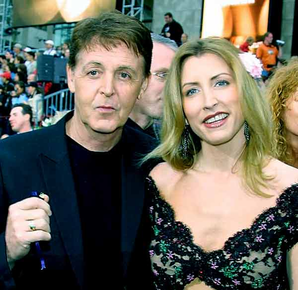 Image of Heather Mills with her ex-husband McCartney