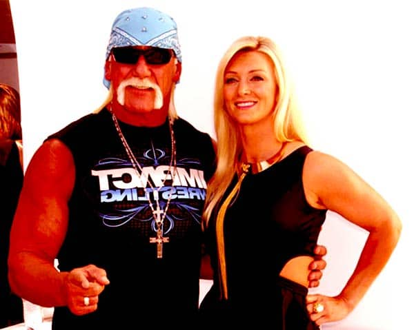 Image of Hulk Hogan with his second wife Jennifer McDaniel