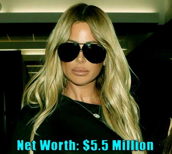 Image of TV Personality, Kim Zolciak net worth is $5.5 million