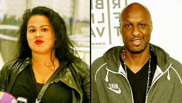 Image of Lamar Odom with his ex-girlfriend Liza Morales