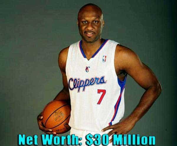 Image of Basketball Player, Lamar Odom net worth is $30 million