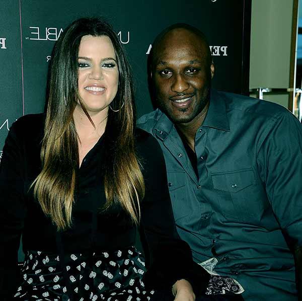 Image of Lamar Odom with his ex-wife Khloe Kardashian