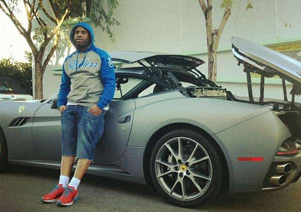 Image of Meek Mill with his Luxurious car