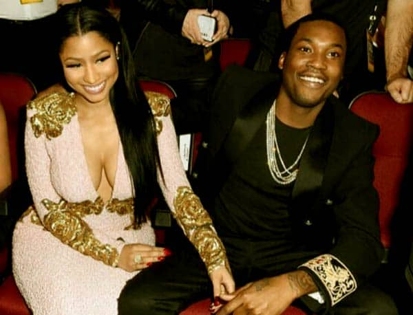 Image of Meek Mill with his ex-girlfriend Nicki Minaj