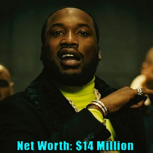 Image of Singer, Meek Mill net worth is $14 million