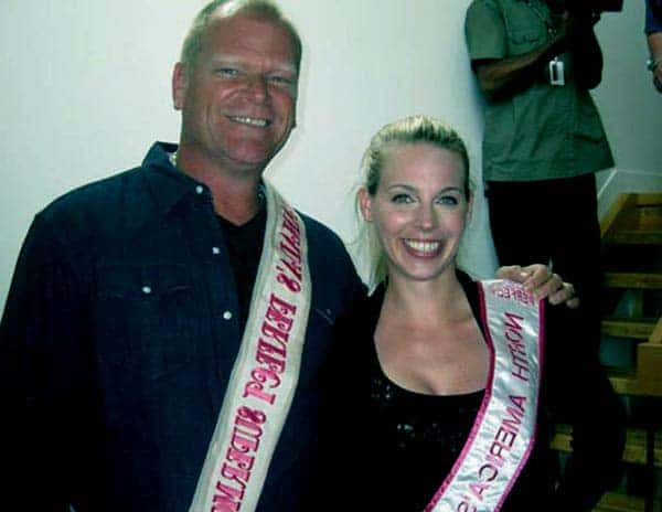 Image of Mike Holmes with his wife Alexandra Lorex