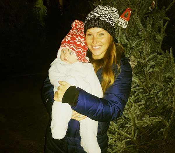 Image of Mina Starsiak with her son Jack Richard Hawk