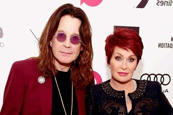 Image of Ozzy Osbourne with his ex-wife Sharon Osbourne