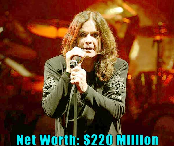 Image of Singer, Ozzy Osbourne net worth is $220 million