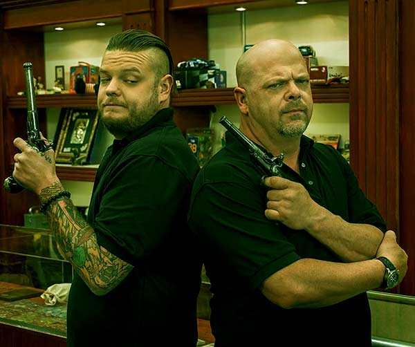 Image of Rick Harrison with his son Corey Harrison