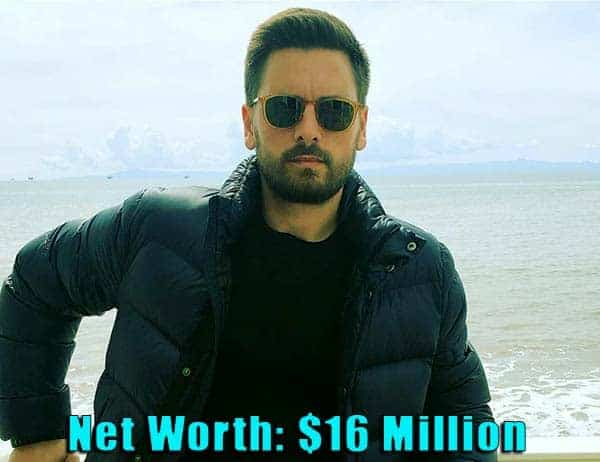 Image of TV Personality, Scott Disick net worth is $16 million