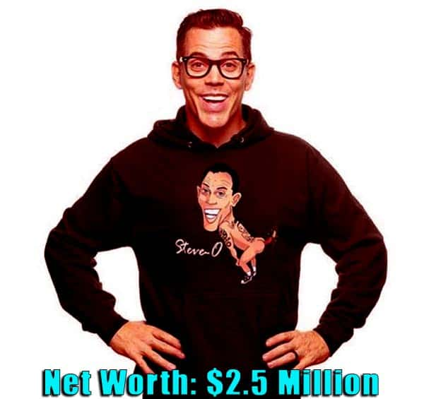 Image of Actor, Steve-O net worth is $2.5 million