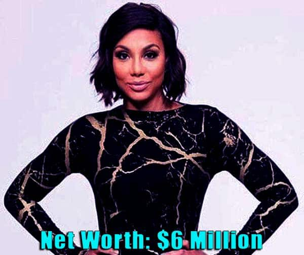 Image of TV Personality, Tamar Braxton net worth is $6 million