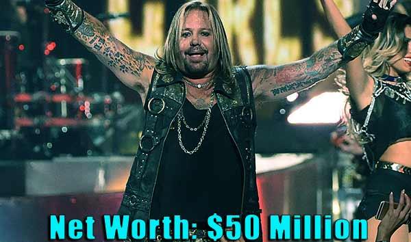 Image of Singer, Vince Neil net worth is $50 million