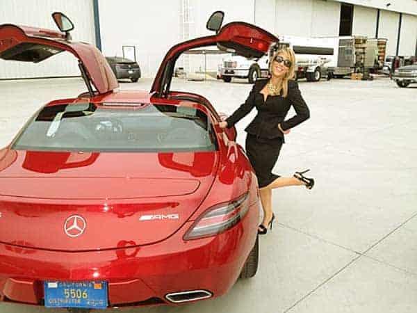 Image of Investor, Lori Greiner Mercedes car