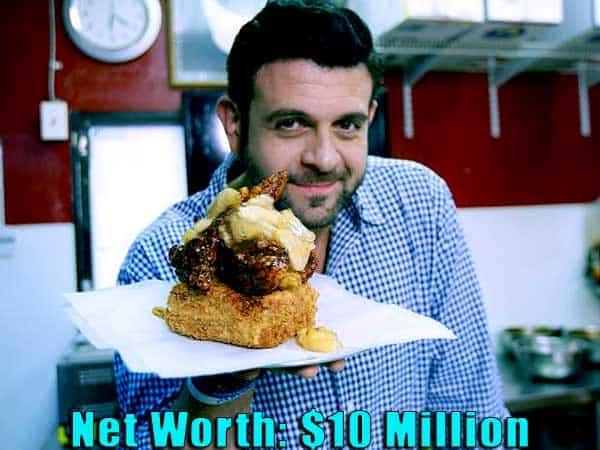 Image of TV Personality, Adam Richman net worth is $10 million