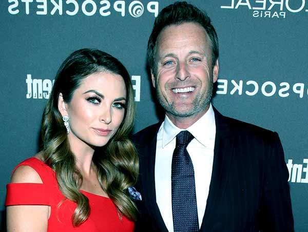 Image of Chris Harrison with his girlfriend Lauren Zima