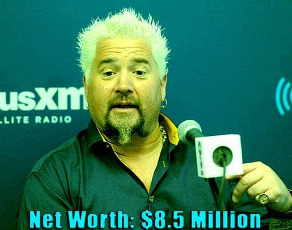 Image of TV Chef, Guy Fieri net worth is $8.5 million