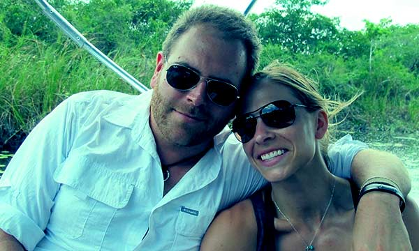 Image of Josh Gates with his wife Hallie Gnatovich