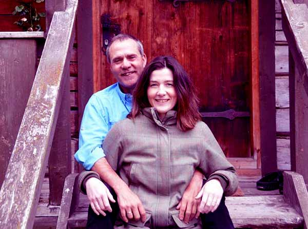 Image of Matt Hayes with his wife Anne-Marit Winsnes.