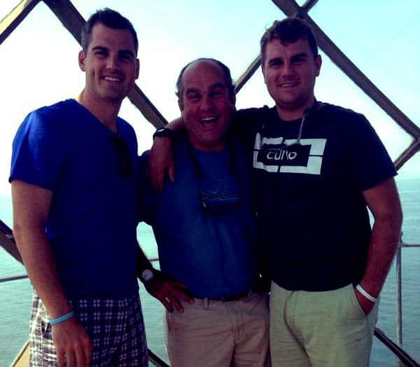 Image of Richard Trethewey with his son Evan Trethewey and Ross Trethewey.