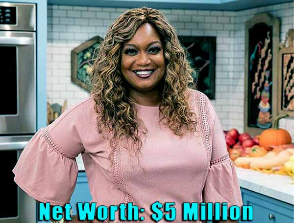 Image of TV Personality, Sunny Anderson net worth is $5 million