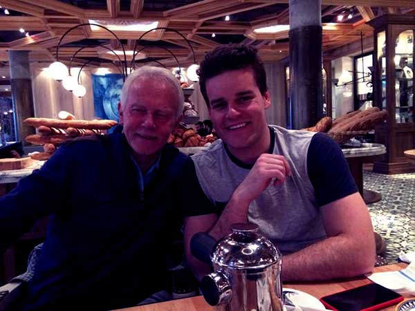 Image of Adam Wylde with his father Ken Lydford