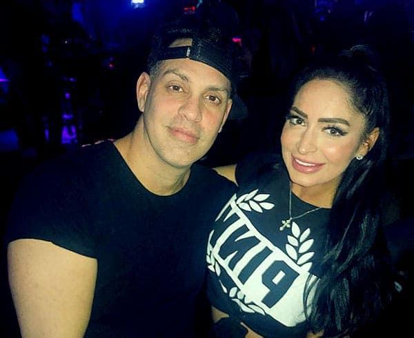 Image of Angelina Pivarnick with her fiance Chris Larangeira