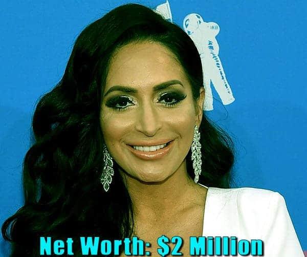Image of TV Personality, Angelina Pivarnick net worth is $2 million