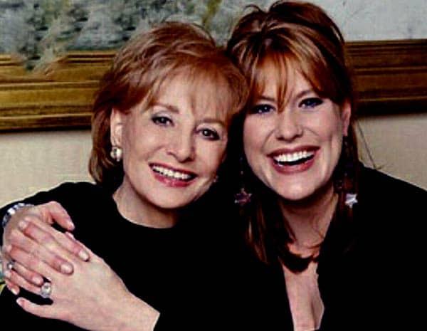Image of Barbara Walters with her daughter Jacqueline Dena Guber.