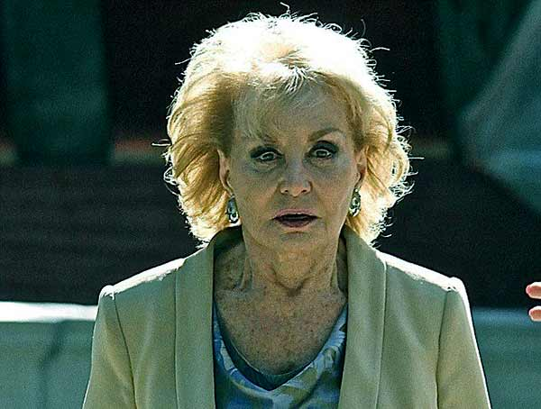 Image of American broadcast journalist, Barbara Walters suffering from advanced dementia