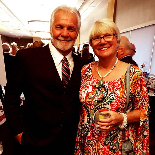 Image of Captain Lee Rosbach with his wife Mary Anne