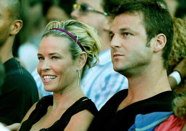 Image of Dave Salmoni with his ex-girlfriend, Chelsea Handler
