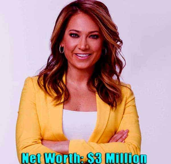 Image of TV Personality, Ginger Zee net worth is $3 million