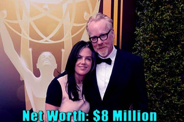 Image of Julia Savage husband Adam Savage net worth is $8 million