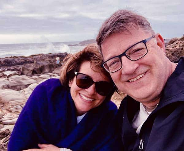 Image of Kevin Frankish with his wife Beth Frankish