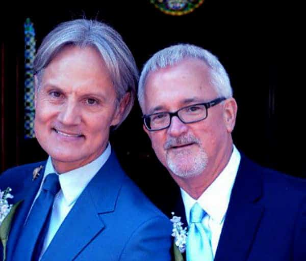 Image of Monte Durham with his partner Jakob Evans