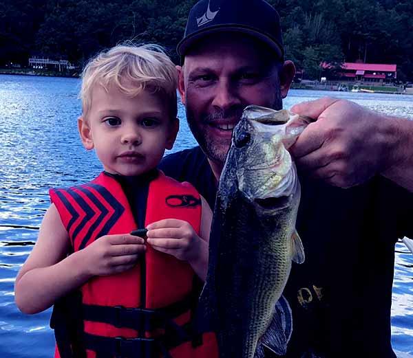 Image of Paul Teutul Jr with his son Hudson Seven Teutul